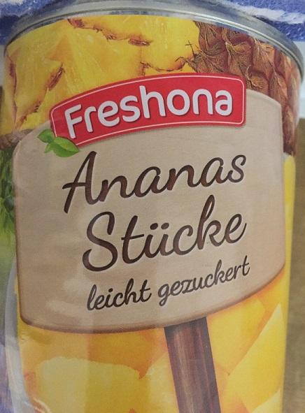 Ananas Stücke, M�rz 2018