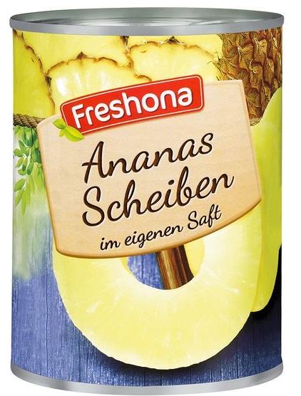 Ananas Scheiben, Juni 2017