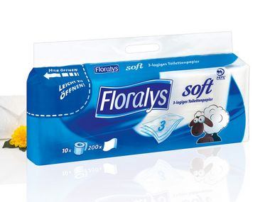 Toilettenpapier, 3 lagig, 200 Blatt, Januar 2013
