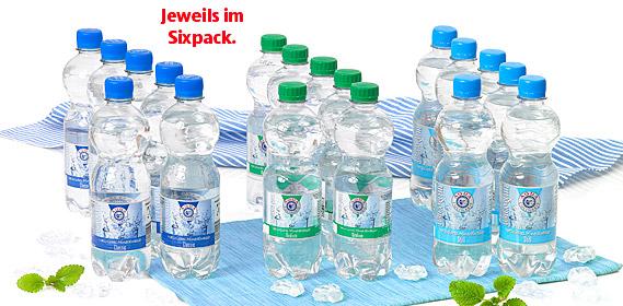 Mineralwasser, 6x 0,5 L, Juli 2010