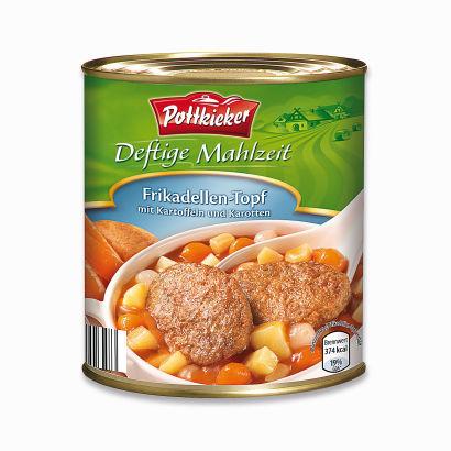Deftige Mahlzeit  Frikadellen-Topf oder Schweine-Gulasch, Februar 2012