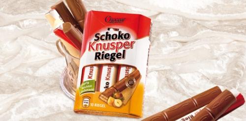 Schoko-Knusper-Riegel, 10x 18 g, November 2008