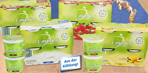Joghurt, L.aktiflor, 4x 125 g, M�rz 2011