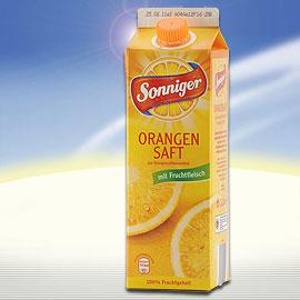 Orangensaft mit Fruchtfleisch, Juli 2010