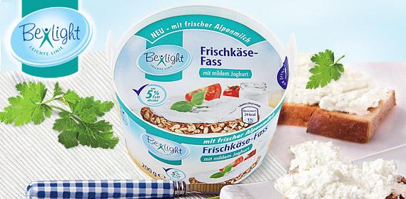 Frischkäse-Fass, fettreduziert, Februar 2012