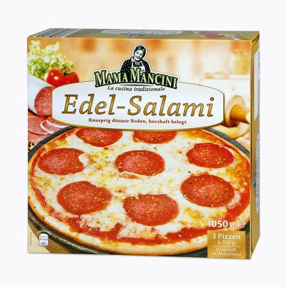 Pizza Edelsalami, 3x 350 g, Februar 2012