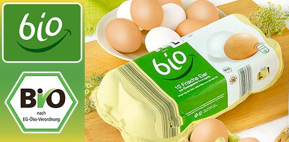 Eier aus ökologischer Erzeugung, August 2010