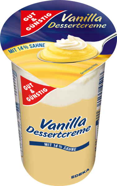 Dessertcreme Vanilla, Januar 2018