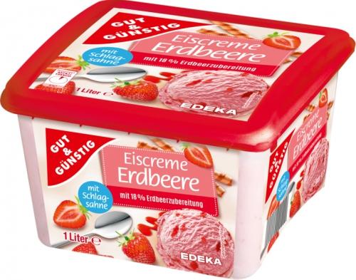 Premium Eiscreme Erdbeer, Januar 2018