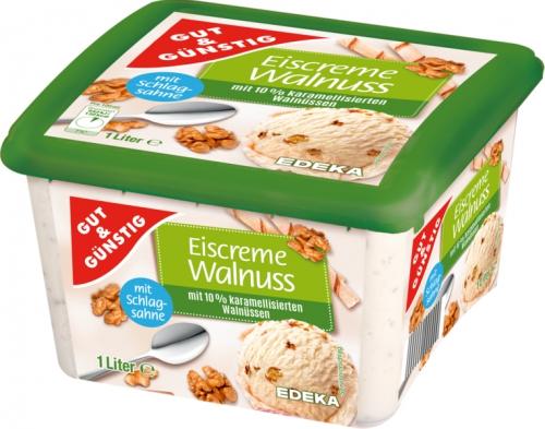 Premium Eiscreme Wallnuss, Januar 2018