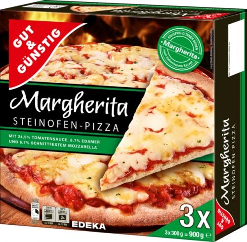 gut g nstig steinofen pizza margherita 3 st ck von edeka. Black Bedroom Furniture Sets. Home Design Ideas