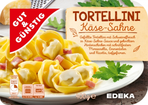 Tortellini in Käse-Sahne-Sauce, Dezember 2017
