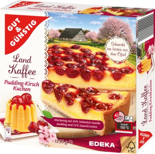 Pudding-Kirschkuchen , Dezember 2017