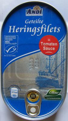 Heringsfilets in Tomaten-Sauce, Mai 2012