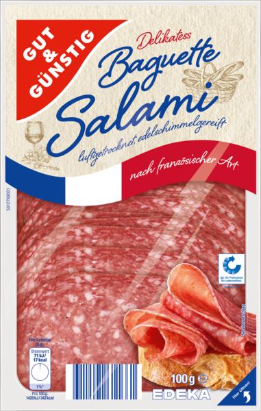 Baguette-Salami, Dezember 2017