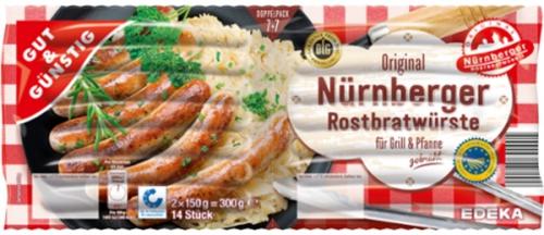 Original Nürnberger Rostbratwurst, Dezember 2017