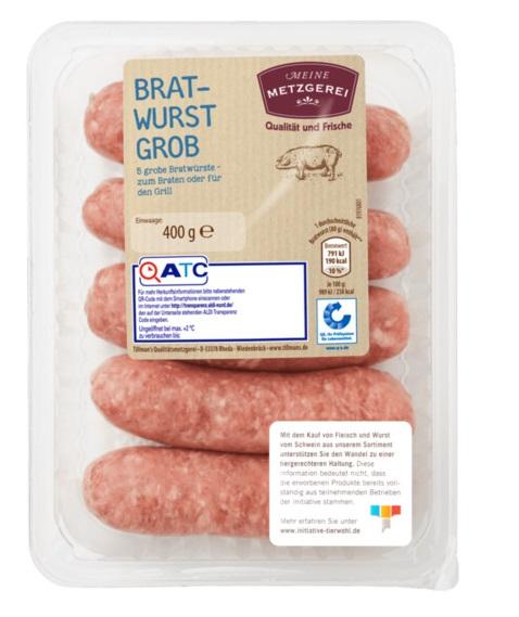 frische grobe Bratwurst, Oktober 2017