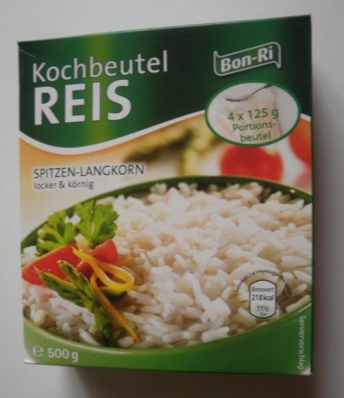 Reis im Kochbeutel, Dezember 2012