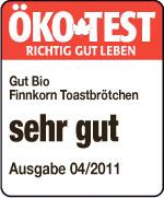 Finnkorn-Roggen-Toastbrötchen, 4 Stück, Februar 2012