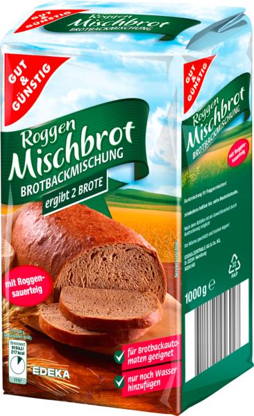 Brotbackmischung Roggenmischbrot, Januar 2018