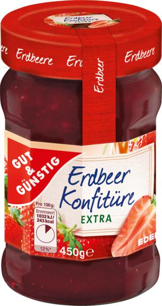 Konfitüre-Extra Erdbeer, Dezember 2017