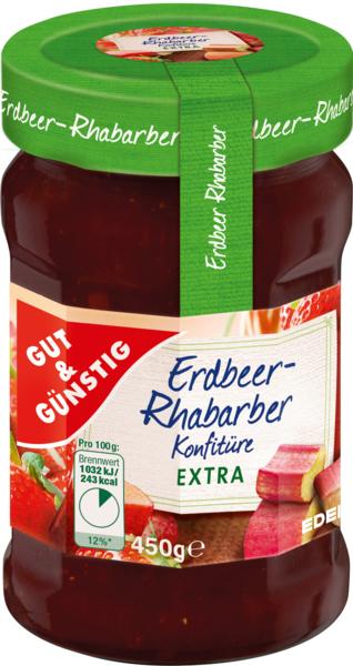 Konfitüre-Extra Erdbeer-Rhabarber, Dezember 2017