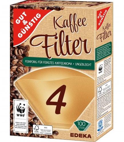 Kaffeefilter Größe 4, Dezember 2017