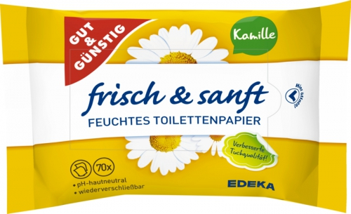 Feuchtes Toilettenpapier Kamille, Dezember 2017