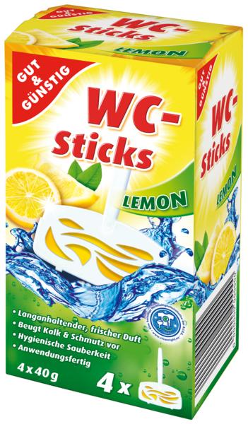WC Sticks Lemon 4 x 40 g, Dezember 2017
