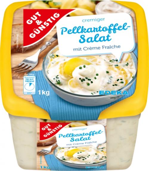 Pellkartoffelsalat mit Crème Fraîche, Januar 2018