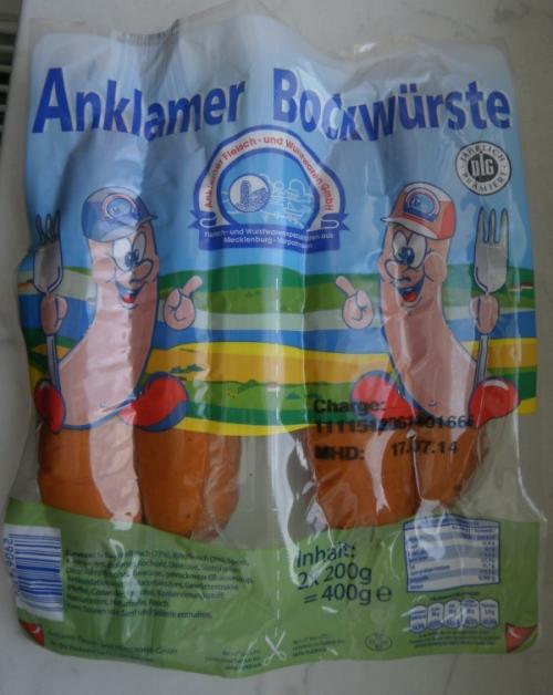Anklamer Bockwurst, Juni 2014