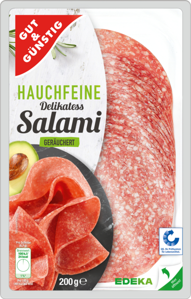 Hauchfein Feine Salami, Dezember 2017
