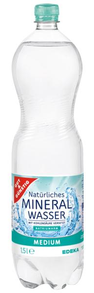 Mineralwasser, medium, Dezember 2017
