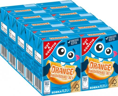 Orangenfruchtsaftgetränk, 10 x 0,2 l, Januar 2018