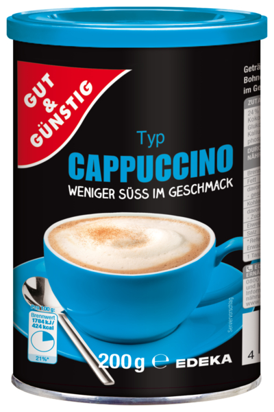 Cappuccino weniger süß, Januar 2018
