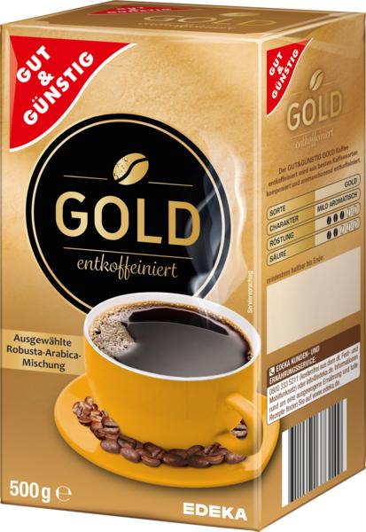 Kaffee Gold, entkoffeiniert, Januar 2018