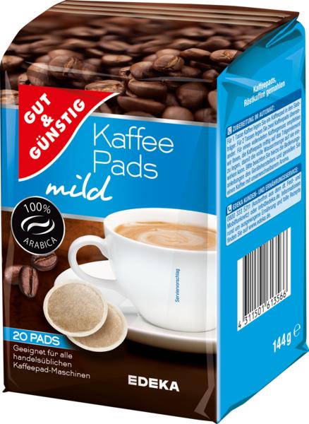 Kaffee-Pads mild, Januar 2018