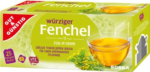 Fenchel Kräutertee, Januar 2018