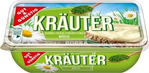 Schmelzkäsezubereitung, Kräuter, Januar 2018