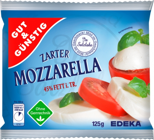 Mozzarella, 45 % Fett i. Tr., Januar 2018