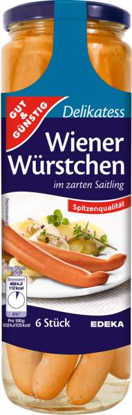 Wiener Würstchen, 6 Stück, Dezember 2017