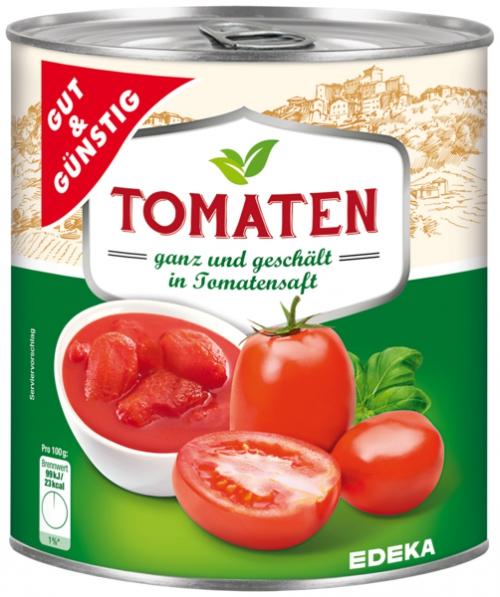 Tomaten, geschält, Januar 2018