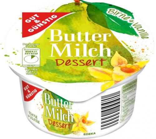 Buttermilch Dessert Birne-Vanille, Januar 2018
