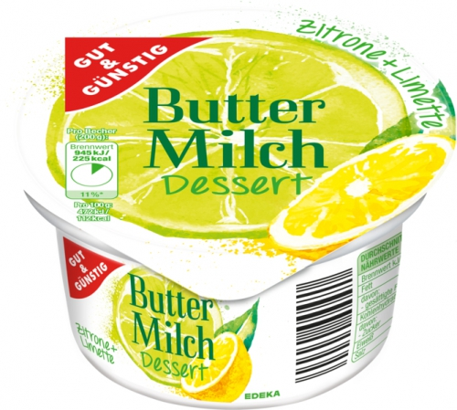 Buttermilch Dessert Zitrone Limette, Januar 2018