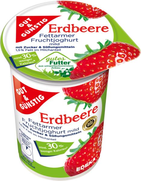Fettarmer Fruchtjoghurt 1,5% Fett Erdbeere, Januar 2018