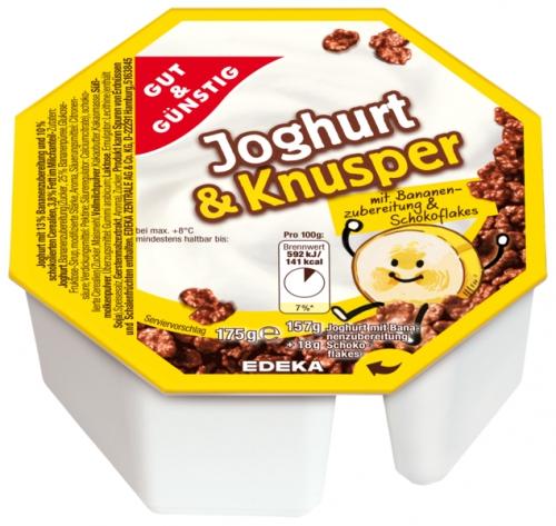Joghurt & Knusper Banane und Schoko Flakes, Januar 2018