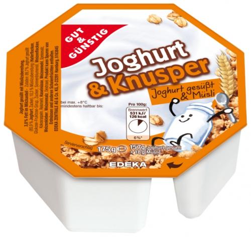 Joghurt & Knusper natur mit Müsli, Januar 2018