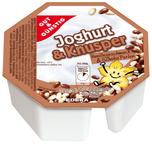 Joghurt & Knusper Vanilla mit Schoko Balls, Januar 2018