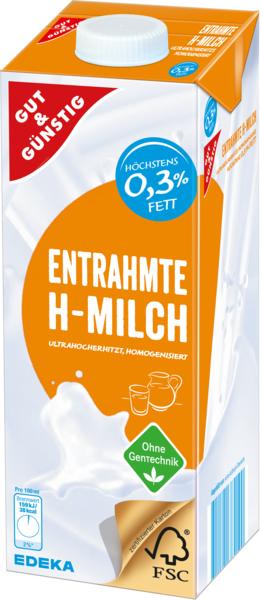 Entrahmte H-Milch, Januar 2018