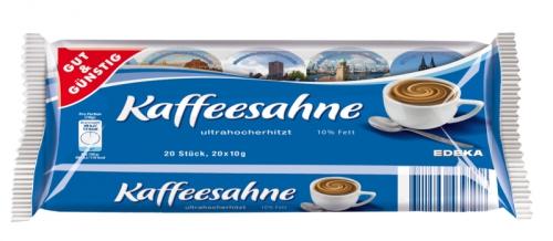 Kaffeesahne 10% Fett, 20x10g, Februar 2018